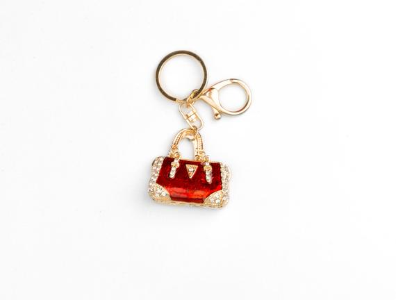 Kırmızı Çanta Figürlü Anahtarlık