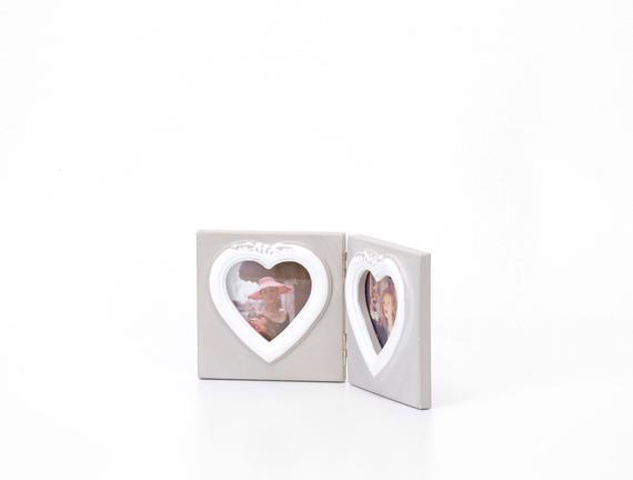 Fotoğraf Çerçevesi 2li Kalp 22x11cm