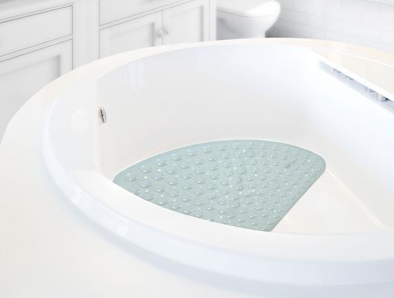 Vakumlu Üçgen Duş Kaydırmazı - Mint Yeşili