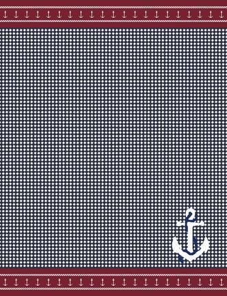 Corde Çift Kişilik Yazlık Battaniye - Lacivert / Kırmızı