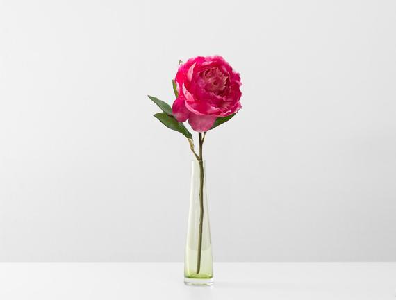 Dekoratif Yapay Çiçek - Koyu Pembe Şakayık