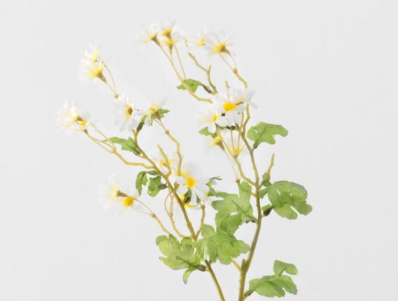 Dekoratif Yapay Çiçek - Beyaz Papatya