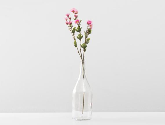 Dekoratif Yapay Çiçek Koyu Pembe Papatya 58cm