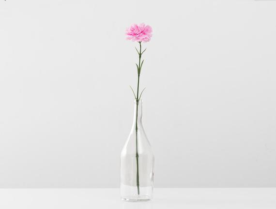 Dekoratif Yapay Çiçek - Açık Pembe Karanfil
