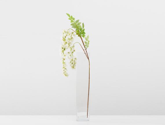 Dekoratif Yapay Çiçek - Beyaz Salkım