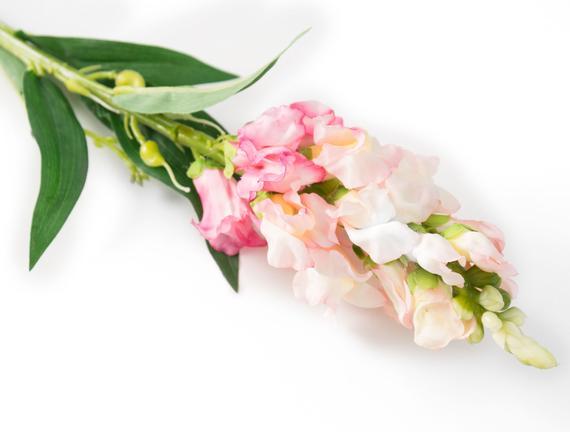 Dekoratif Yapay Çiçek - Pembe Çiçekli Aslanağzı