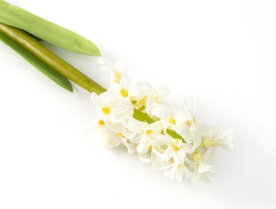Dekoratif Yapay Çiçek - Beyaz Sümbül