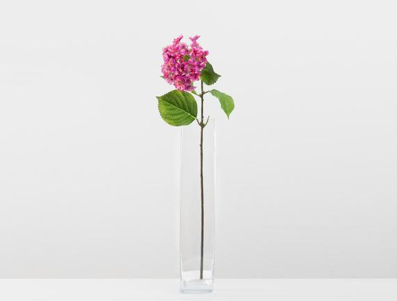 Dekoratif Yapay Çiçek - Koyu Pembe Ortanca