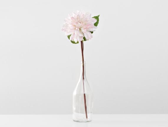 Dekoratif Yapay Çiçek - Beyaz / Pudra Yıldız Çiçeği