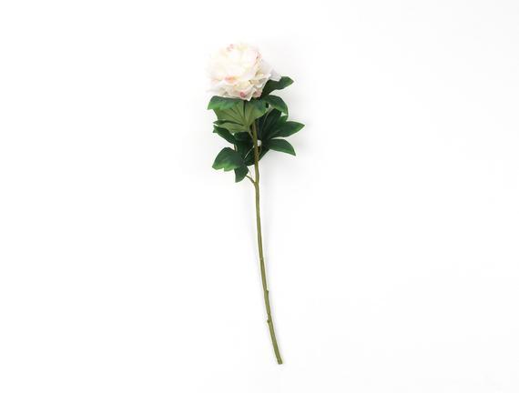 Dekoratif Yapay Çiçek - Beyaz Şakayık