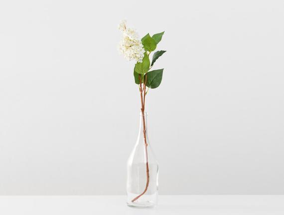 Dekoratif Yapay Çiçek - Beyaz Leylak