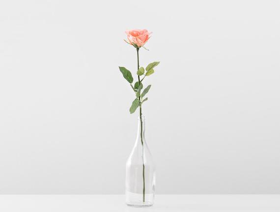 Dekoratif Yapay Çiçek - Somon Gül