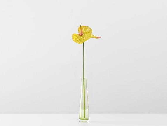 Dekoratif Yapay Çiçek - Sarı Antoryum