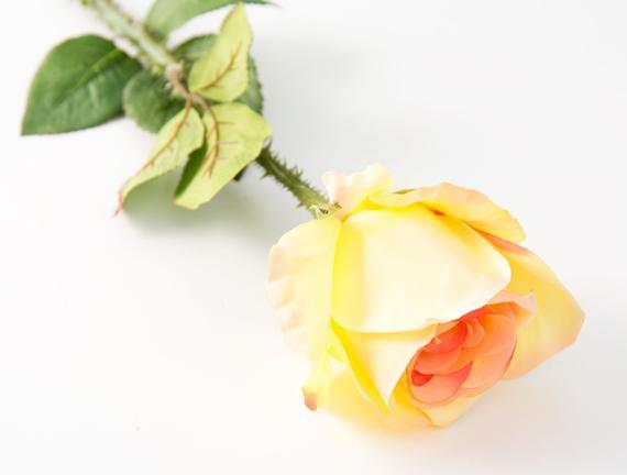Dekoratif Yapay Çiçek - Sarı Gül