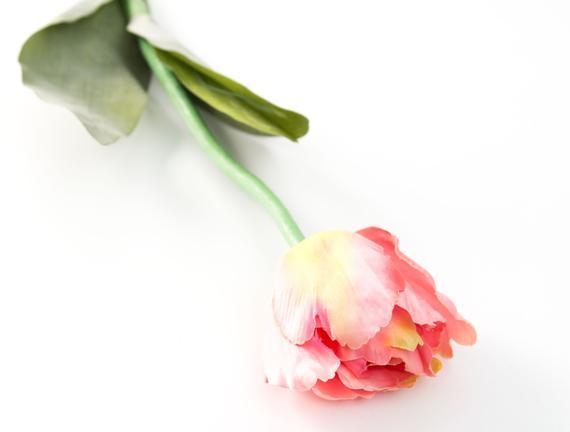 Dekoratif Yapay Çiçek - Pembe Lale