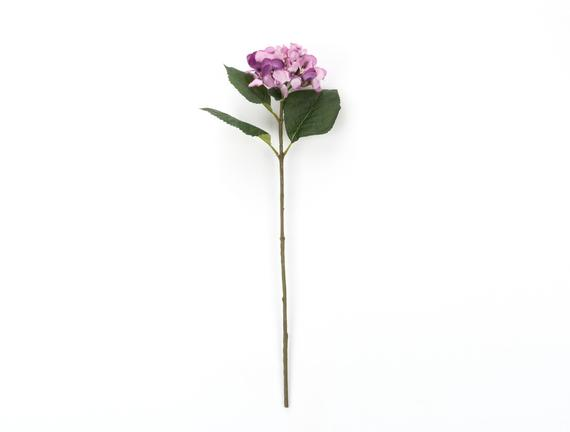 Dekoratif Yapay Çiçek - Açık Mürdüm Ortanca