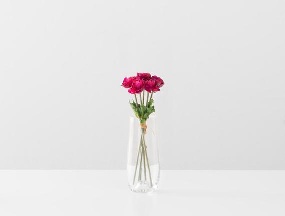 Dekoratif Yapay Çiçek - Fuşya Düğün Çiçeği Buketi