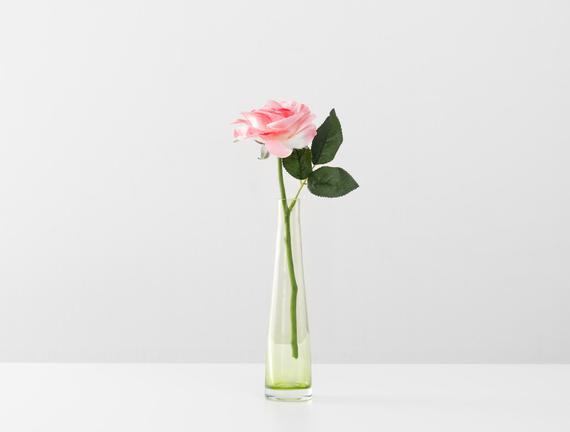 Dekoratif Yapay Çiçek - Açık Pembe Bal Gülü