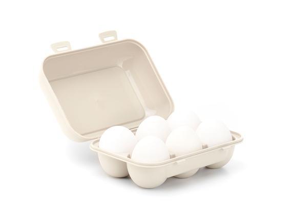 6'lı Yumurta Saklama Kabı - Toprak