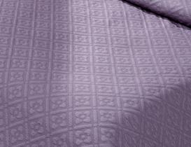 La Belle Epoque Çift Kişilik Örme Yatak Örtüsü Seti - Koyu Mürdüm