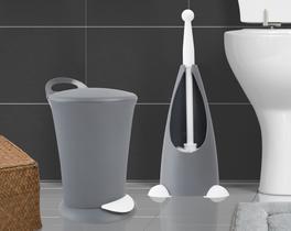 Fırça ve Pedallı Çöp Kovası - Antrasit