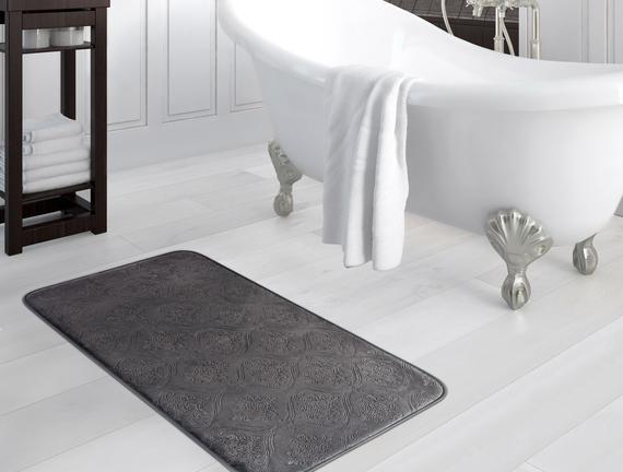 Emboss Banyo Paspası - Antrasit