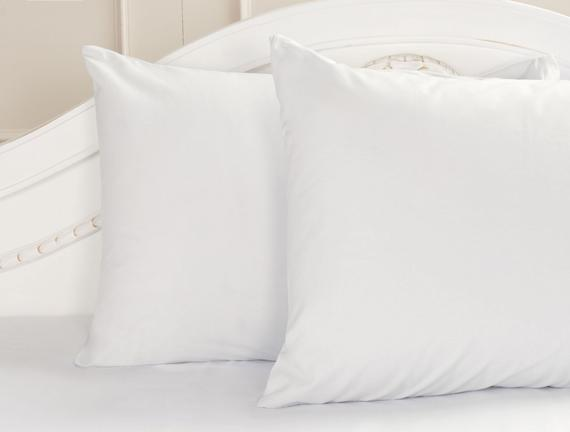 2'li Ranforce Yastık Kılıfı - Beyaz