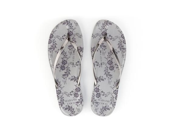 Parmak Arası Kadın Plaj Terlik - Gümüş