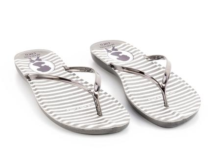 Cameo Parmak Arası Kadın Plaj Terlik - Gümüş