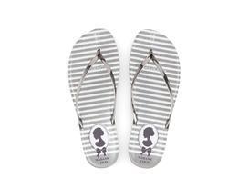 Cameo Parmak Arası Kadın Plaj Terliği - Gümüş