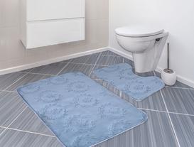 Quilt Banyo Halı Takımı - İndigo