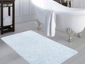 Quilt Banyo Halısı - Açık Mavi