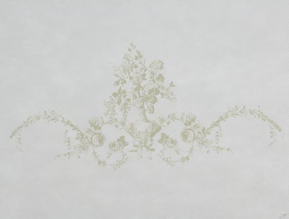Çiçek Desen Baskılı Hurç - Taş
