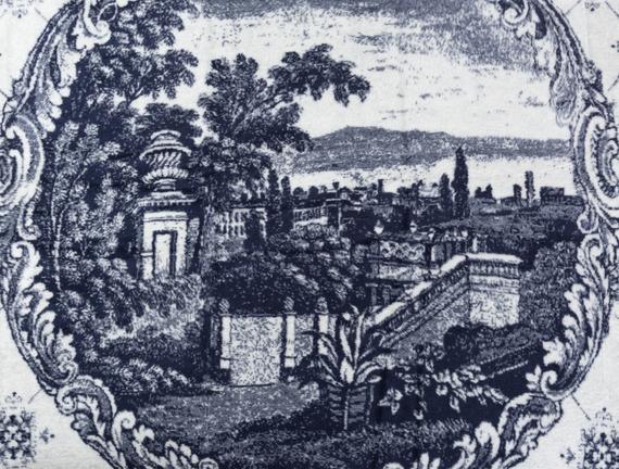 Castle Çift Kişilik Pamuklu Battaniye - Lacivert