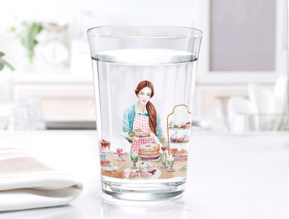 Elicia 3'lü Su Bardağı Seti