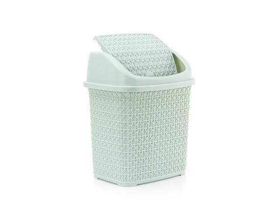 Örgü Desenli Çöp Kovası - Yeşil