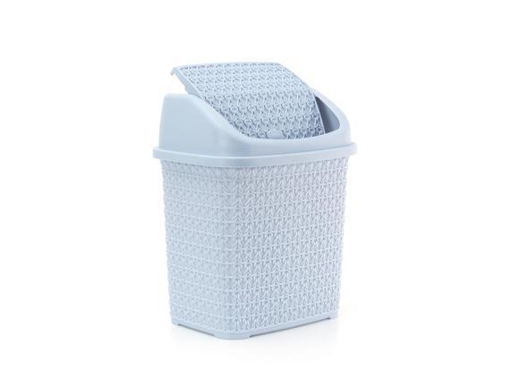 Örgü Desenli Çöp Kovası - Mavi