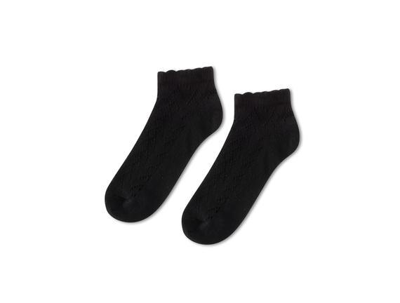 File Patik Kadın Çorabı - Siyah