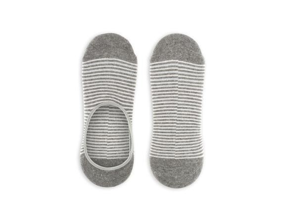 Simli ve Çizgili Babet Çorabı - Antrasit