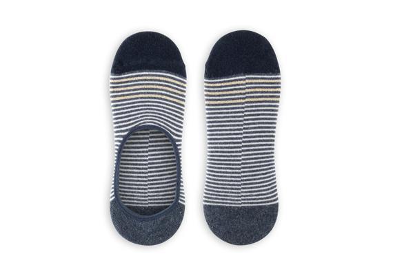 Simli ve Çizgili Babet Çorabı - İndigo