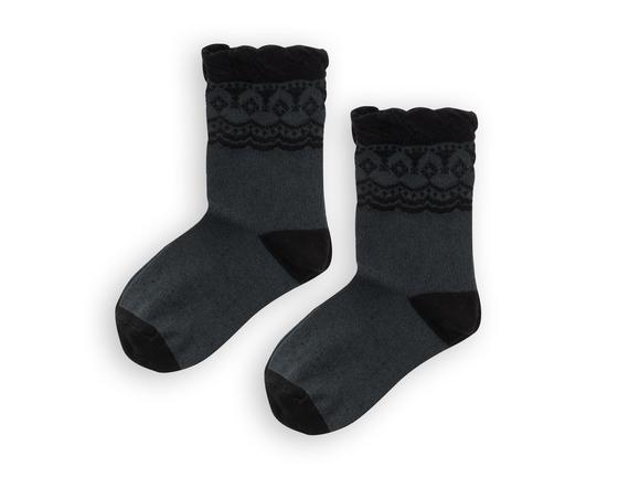 Lastiksiz Soket Kadın Çorabı - Siyah