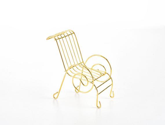 Trinket Mini Sandalye - Gold