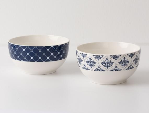 Rêve Bleu 2'li New Bone China Konik Kase Seti