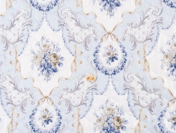 Rose Bleu King Size Yatak Örtüsü Seti - Mavi