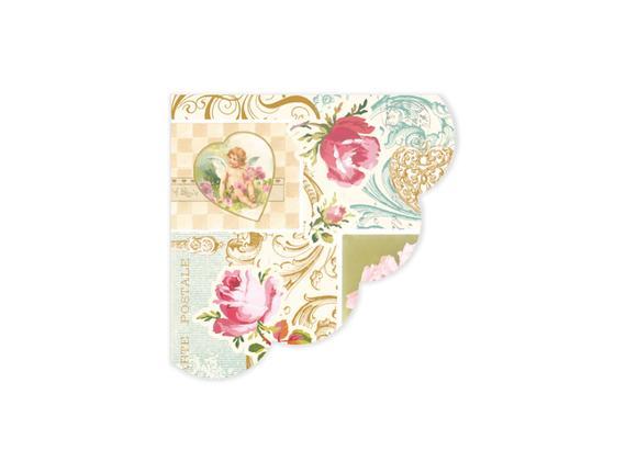 Melek ve Çiçek Desenli Peçete