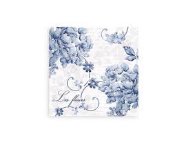 Mavi Çiçek Desenli Peçete
