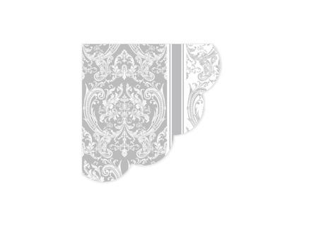 Royal Pattern Gray Peçete - Yuvarlak
