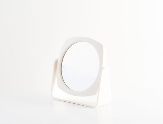 Çift Yüzlü Makyaj Aynası - Ekru