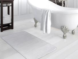 Flanel Banyo Paspası - Gri