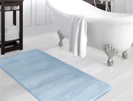Flanel Banyo Paspası - İndigo